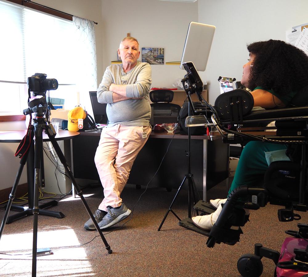Bill Allan filming Carmen